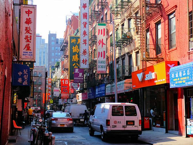 뉴욕 차이나타운 - 전형적인 건물