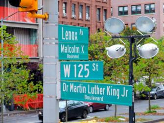 뉴욕 할렘 - 도로명 표지판