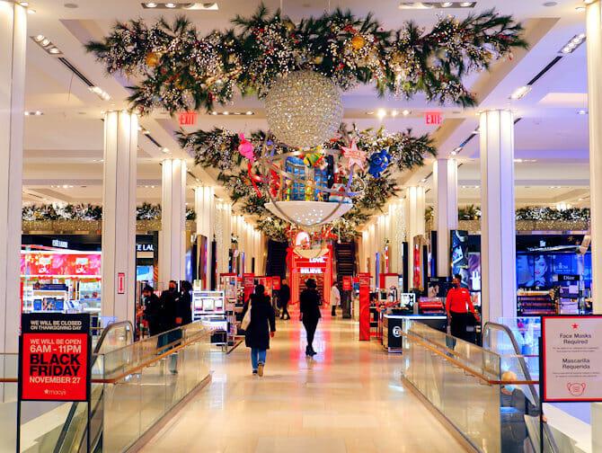 뉴욕 메이시백화점 - 크리스마스 장식