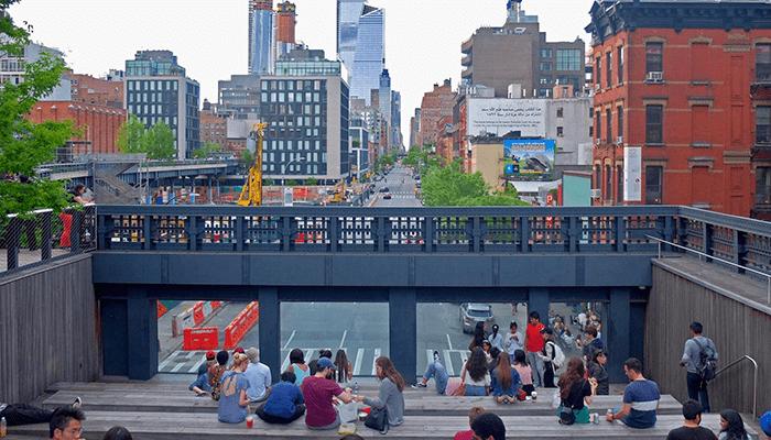 뉴욕 하이라인 파크 - 계단