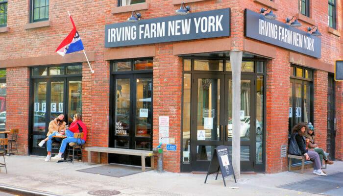 뉴욕 최고의 커피숍 및 베이글 바 - 어빙 팜