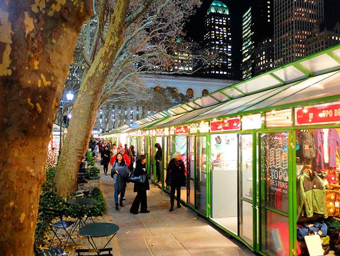 뉴욕 크리스마스 시즌 - 브라이언트 마켓