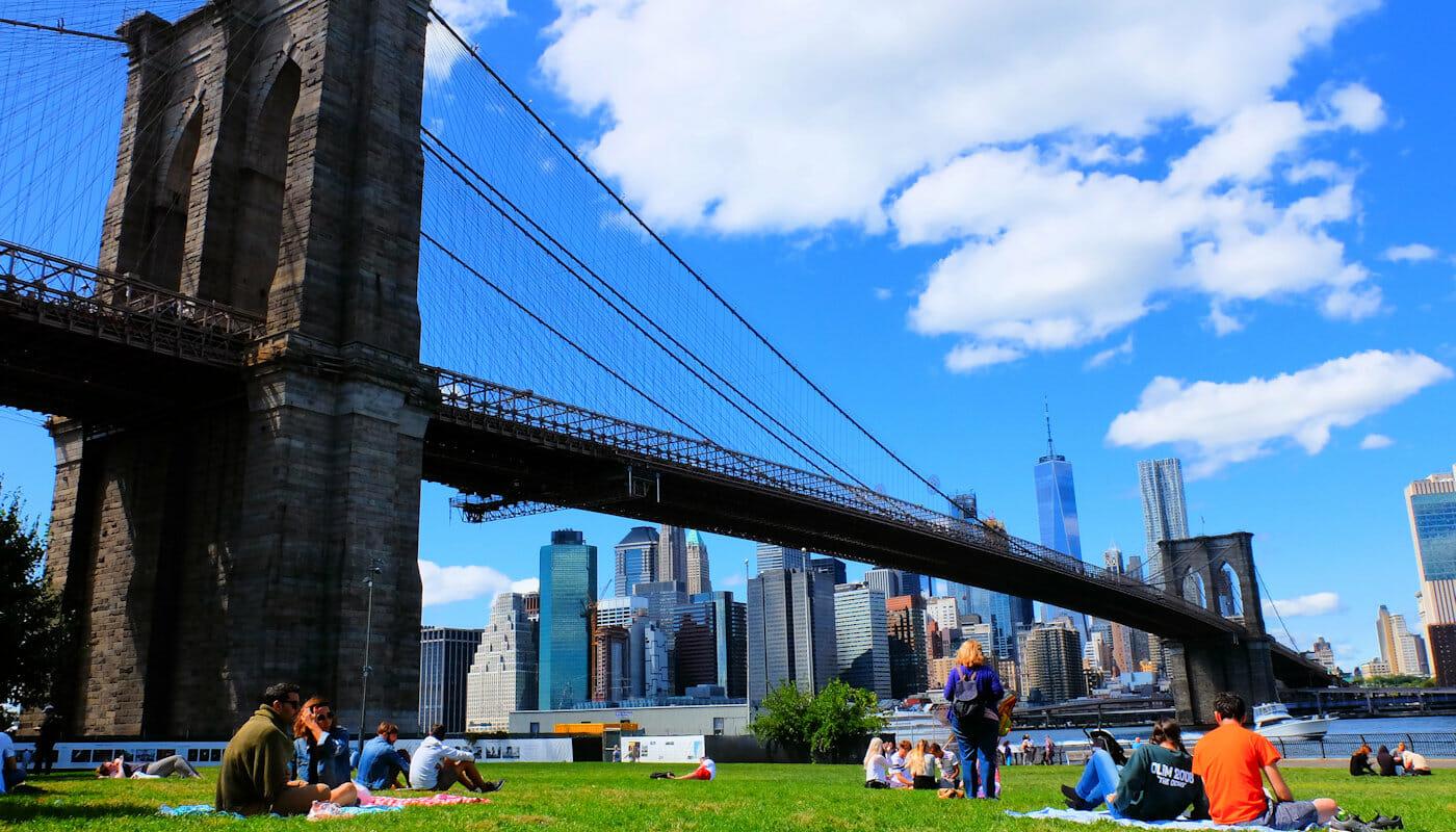 뉴욕 브루클린 브리지 파크 - 휴식