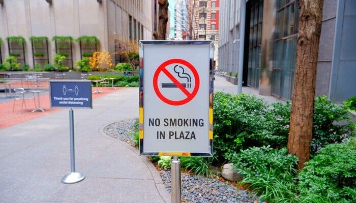 뉴욕에서의 흡연 - 공원 내 금연구역
