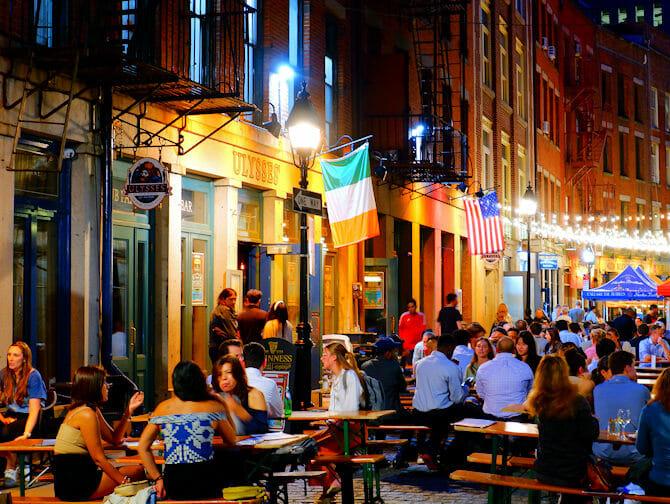 뉴욕 스톤 스트리트 - 바와 레스토랑