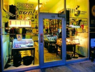 Hidden speakeasy bar tour in New York Pawn Shop