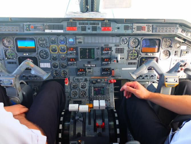나이아가라 폭포 비행기 당일 투어 - 조종실