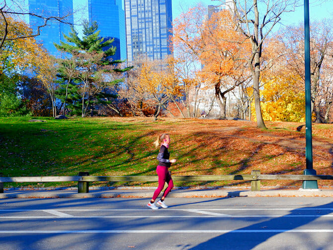 뉴욕에서 달리기하기