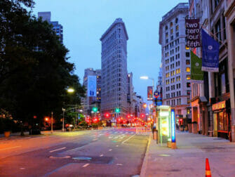 뉴욕 플랫아이언 빌딩 - 야경