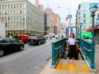 뉴욕의 지하철 Canal Street
