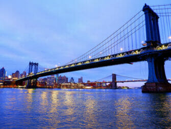 뉴욕 맨해튼 브리지 - 야간