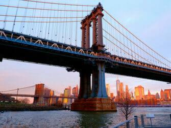 뉴욕 맨해튼 브리지 - 일몰