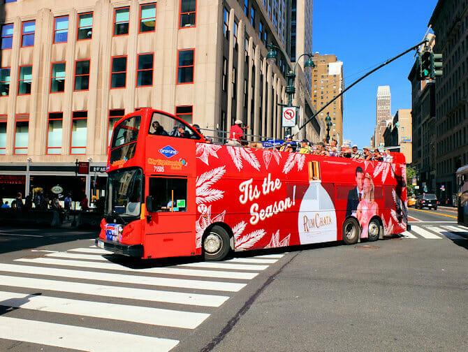 뉴욕 그레이라인 시티투어 버스