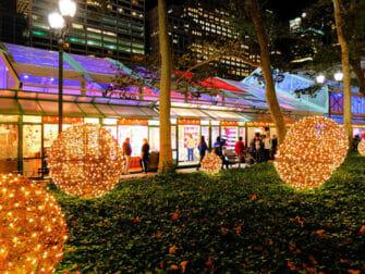 뉴욕 크리스마스 마켓 - 브라이언트 파크